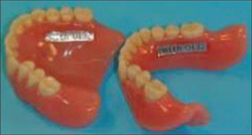 Dentures liner plastic strip criticising write